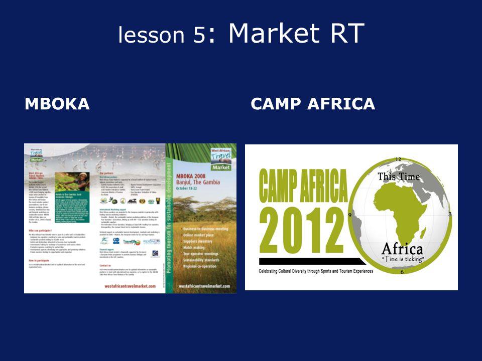 lesson 5 : Market RT MBOKA CAMP AFRICA
