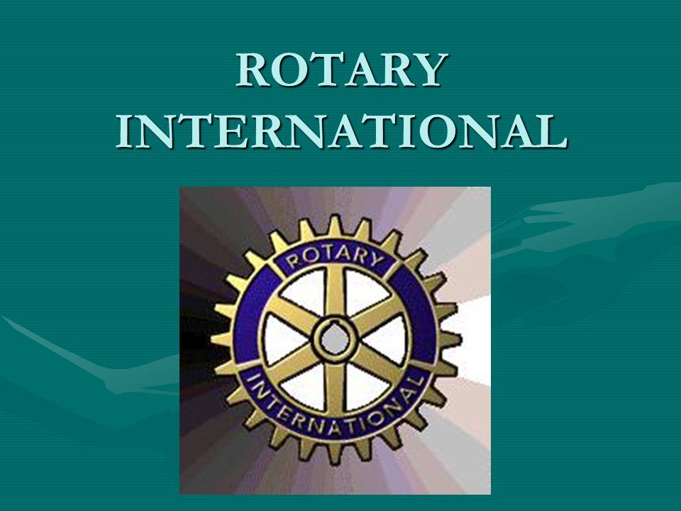 ROTARY INTERNATIONAL SERVES OUR WORLD