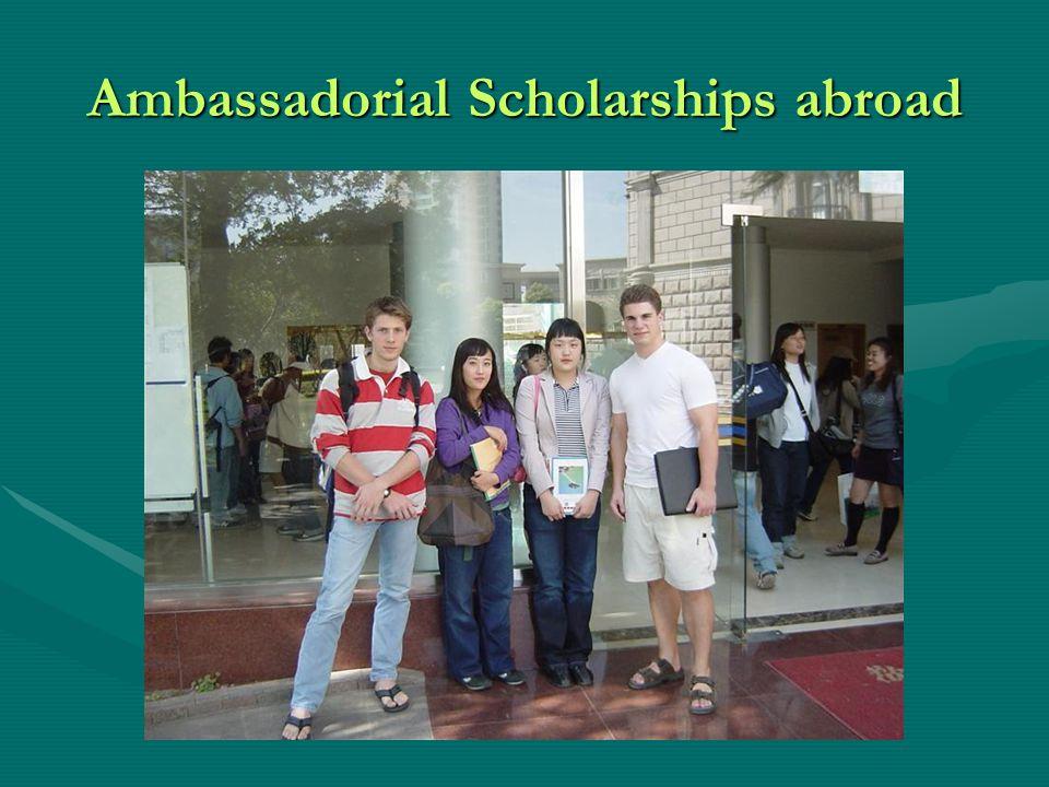 Ambassadorial Scholarships abroad