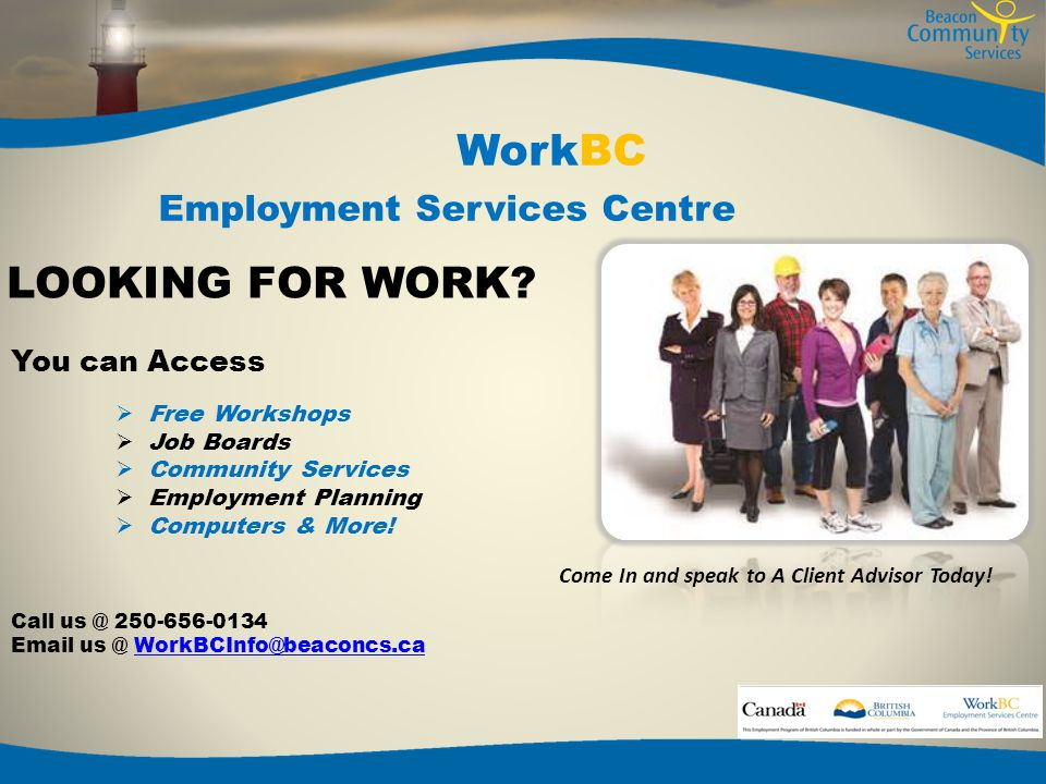 WorkBC Employment Services Centre EMPLOYERS.