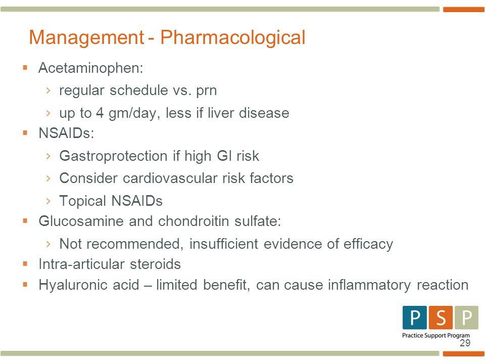 29  Acetaminophen: › regular schedule vs.