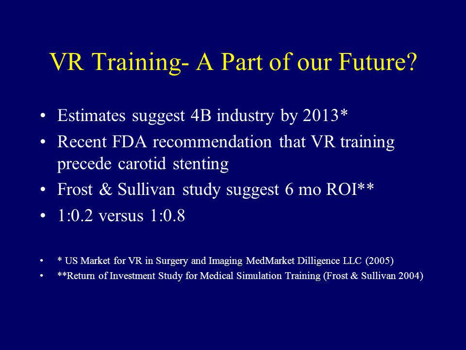 VR Training- A Part of our Future.