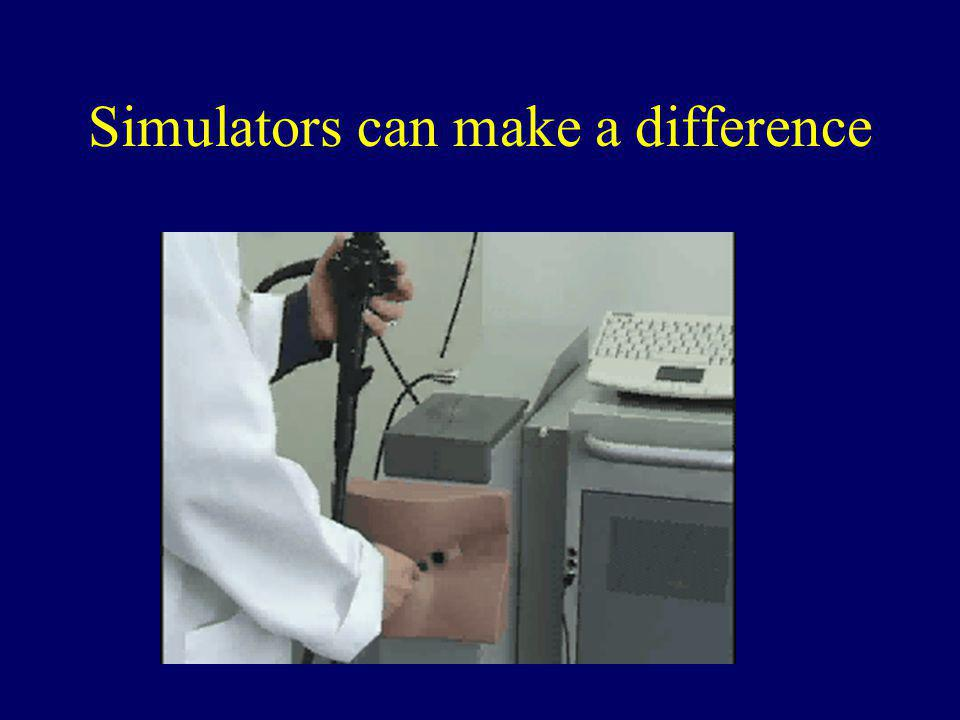 Simulators can make a difference