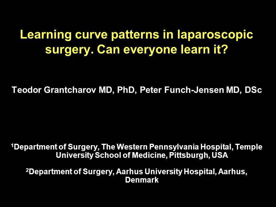 Learning curve patterns in laparoscopic surgery.Can everyone learn it.