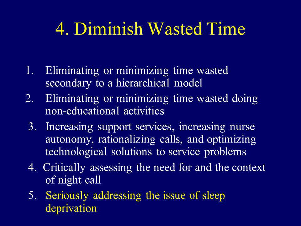 4.Diminish Wasted Time 1.