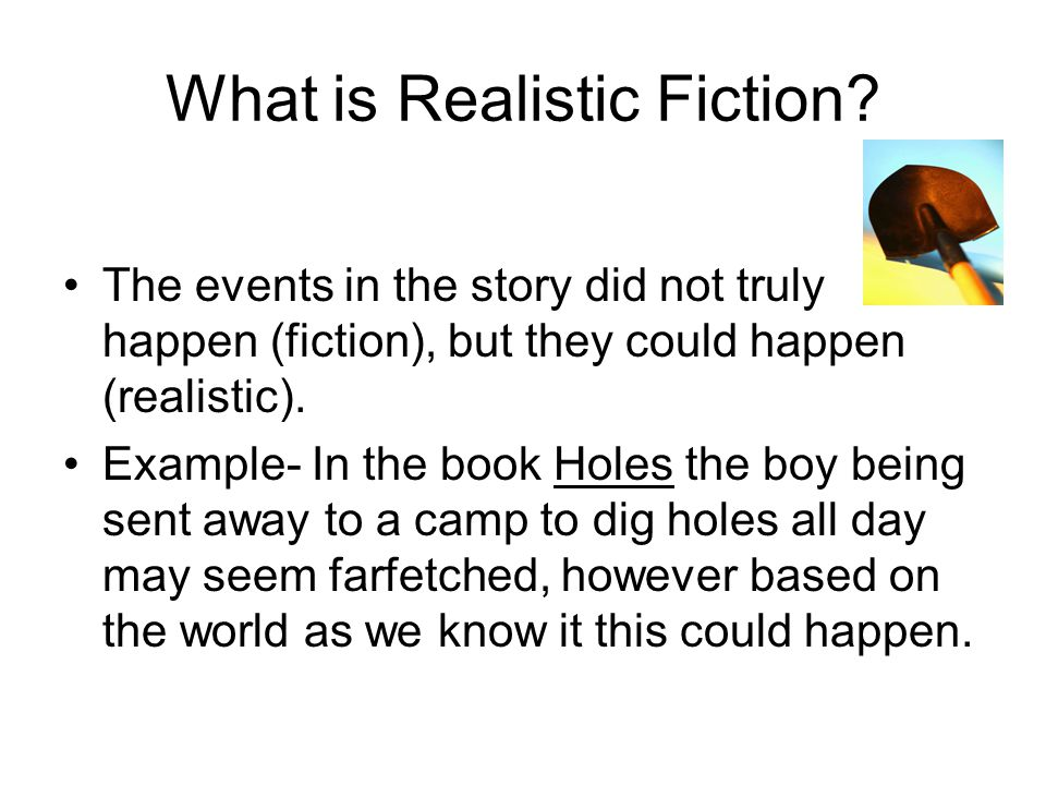 What is Realistic Fiction.