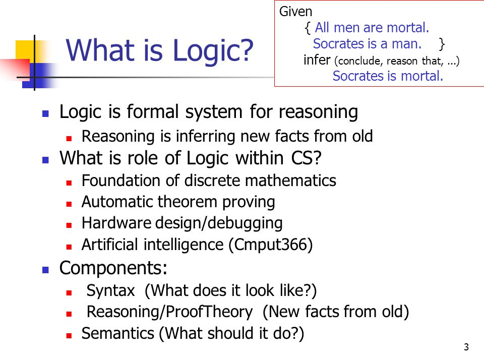4 Logic Programming Program  Logic Formula Execution of program  Proving a theorem User: 1.