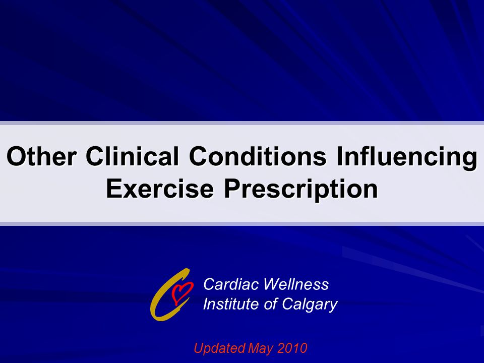 Material to be Covered ACSM's Resource Manual for Guidelines for Exercise Testing and Prescription (6 th ed.) Chapters 7, 8, 23, 24, 36, 37, 38 ACSM's Guidelines for Exercise Testing and Prescription (8 th ed.) Chapter 10
