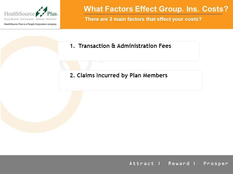 Attract | Reward | Prosper What Factors Effect Group.