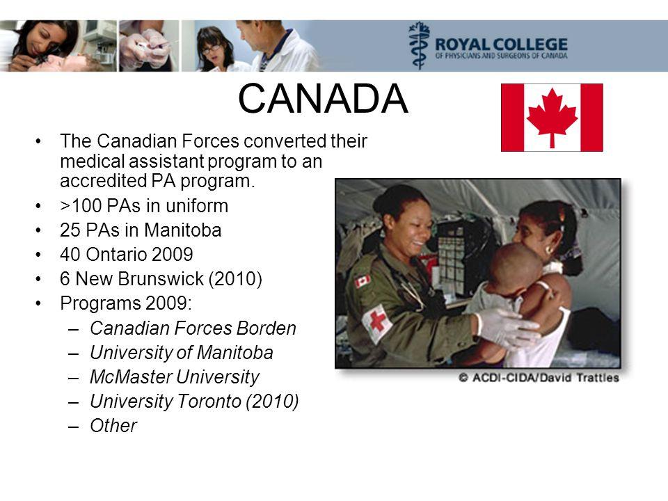 Canadian Forces Physician Assistants Somalia Honduras Israel Persian Gulf Afghanistan Bosnia Kosovo Haiti