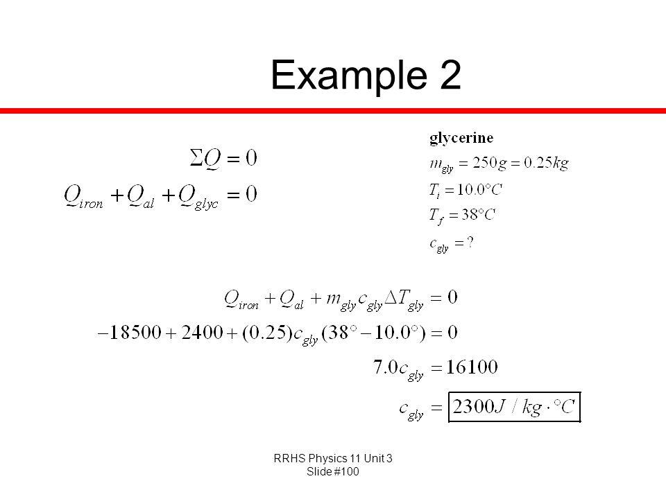 RRHS Physics 11 Unit 3 Slide #100 Example 2