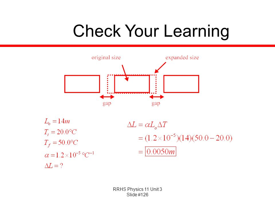 RRHS Physics 11 Unit 3 Slide #126 Check Your Learning