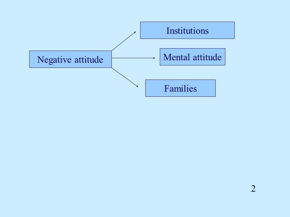 Negative attitude Institutions Mental attitude Families 2