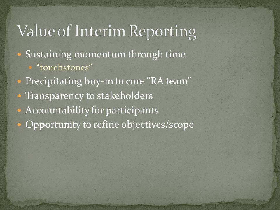 Reporting is a continuum which occurs throughout the pest risk analysis process with a continual feedback loop.