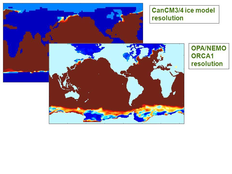 CanCM3/4 ice model resolution OPA/NEMO ORCA1 resolution