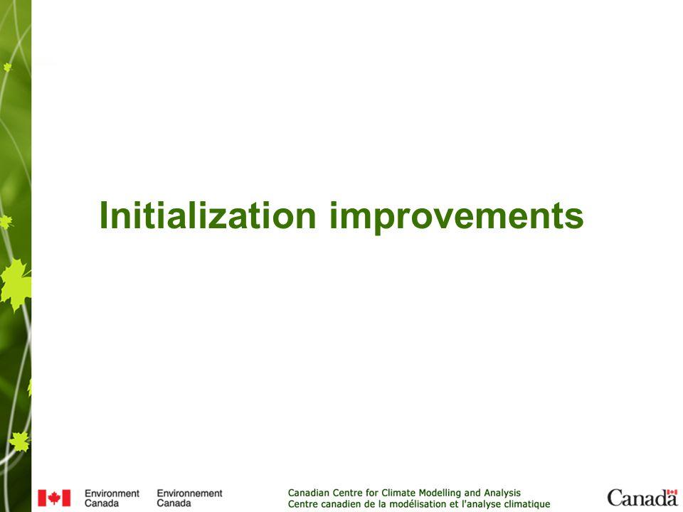 Initialization improvements