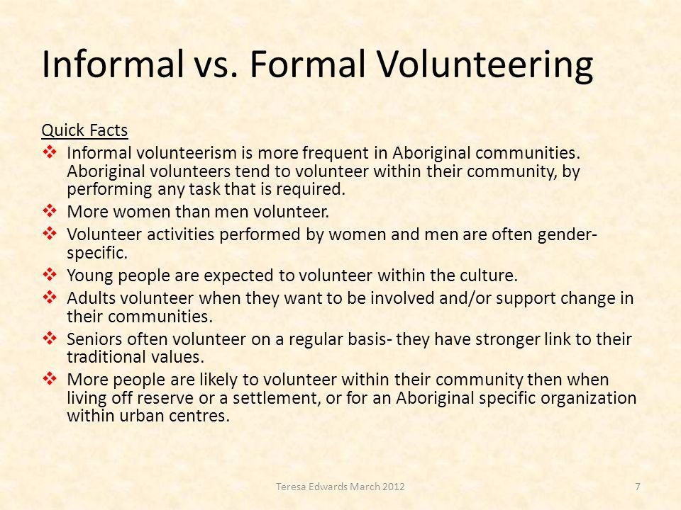Informal vs.