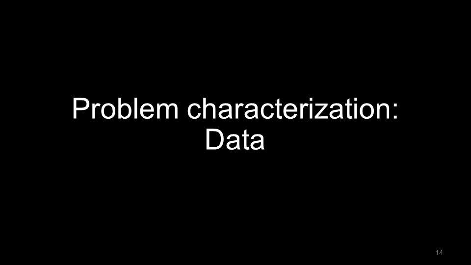 Problem characterization: Data 14