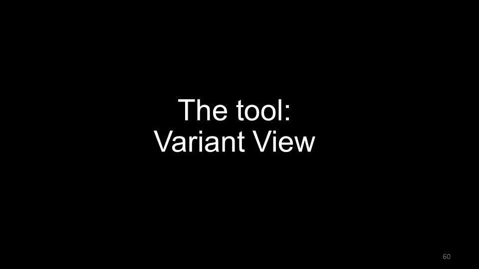 The tool: Variant View 60