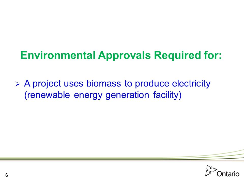 7 RENEWABLE ENERGY APPROVAL (REA) 7
