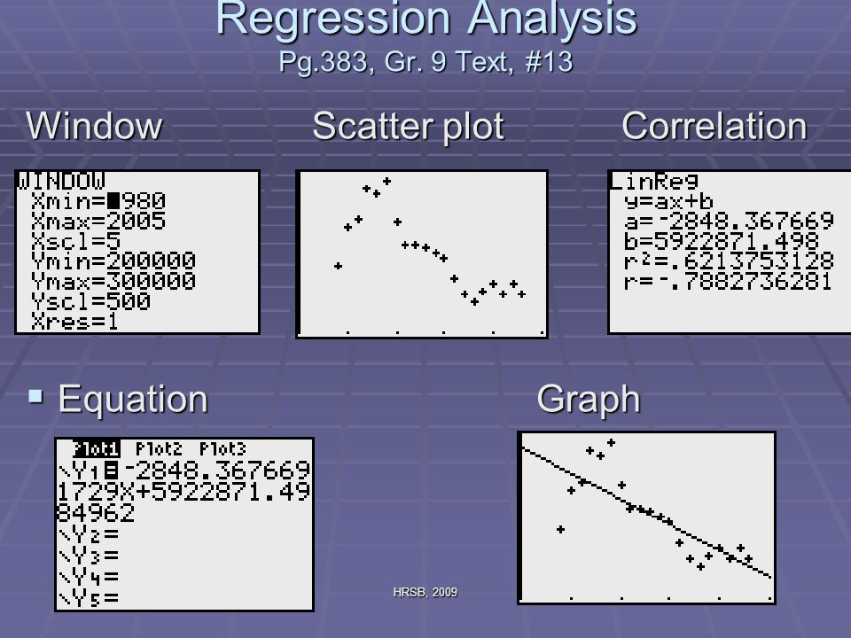 HRSB, 2009 Regression Analysis Pg.383, Gr.
