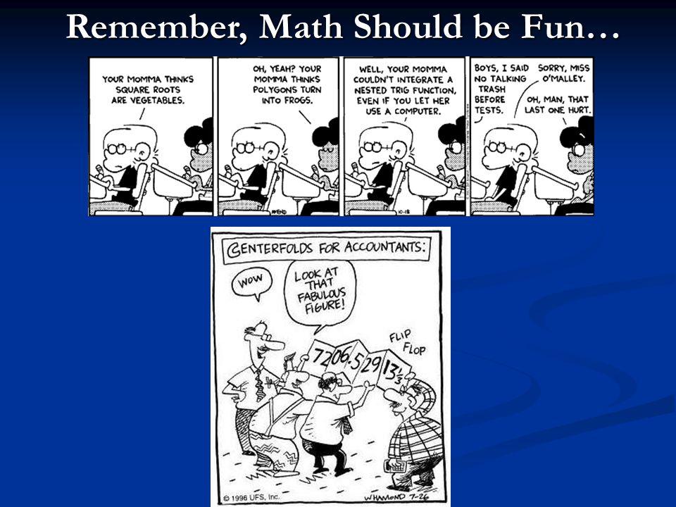 HRSB, 2009 Remember, Math Should be Fun…