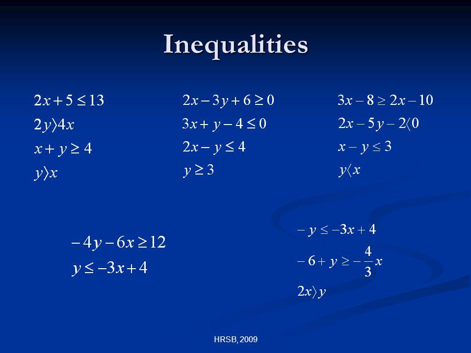 HRSB, 2009 Inequalities