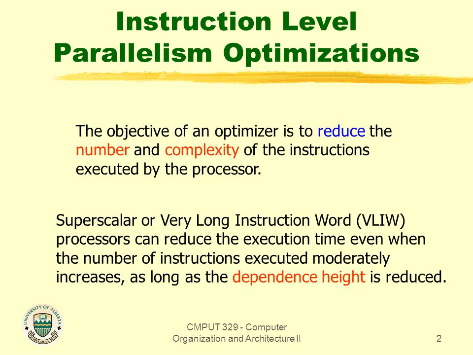 CMPUT 329 - Computer Organization and Architecture II83 Path Priority Function The constant K makes the path with the largest dependence height and the most operations have a non-zero probability.
