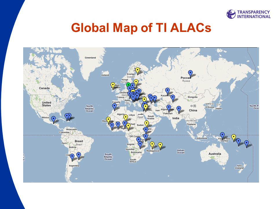 Global Map of TI ALACs