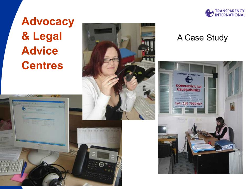 Advocacy & Legal Advice Centres A Case Study