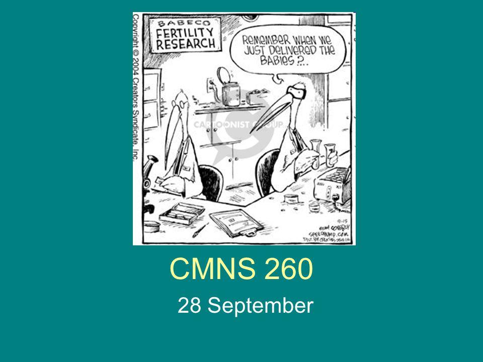 CMNS 260 28 September
