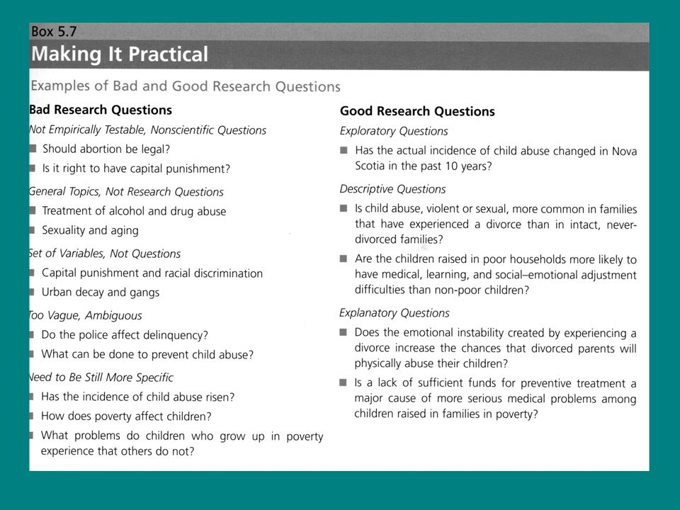 Tutorial Exercise #1 Formulate your research question (based on the topic you selected for Assignment #2) Consider potential measures What methods would be suitable for those measures.