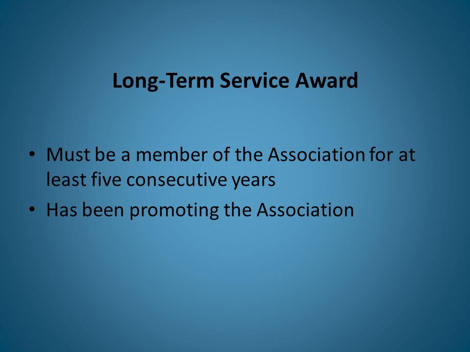 Long-Term Service Award winner Virginia Pona