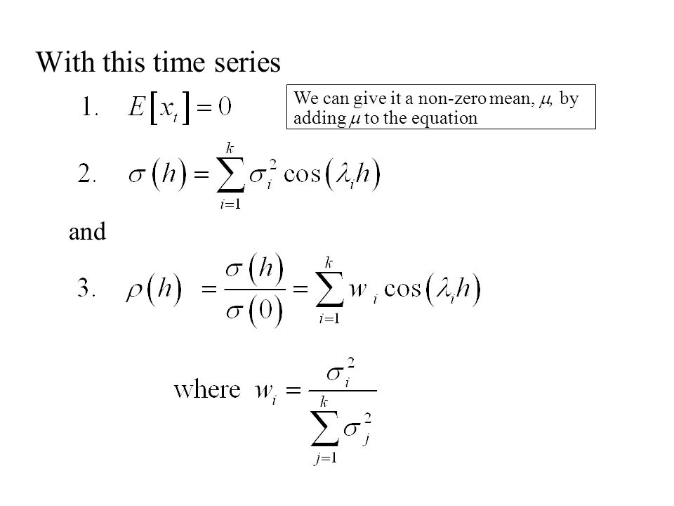 Thus an ARMA(p,q) time series can be written: where This is called the inverted form of the time series.