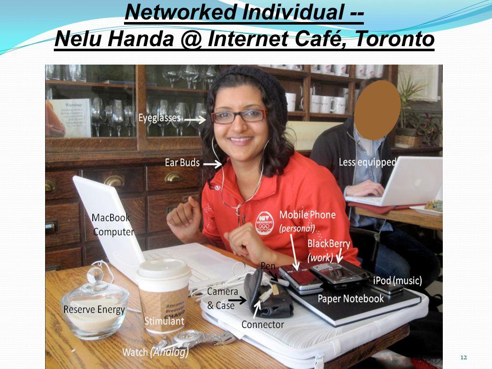 12 Networked Individual -- Nelu Handa @ Internet Café, Toronto