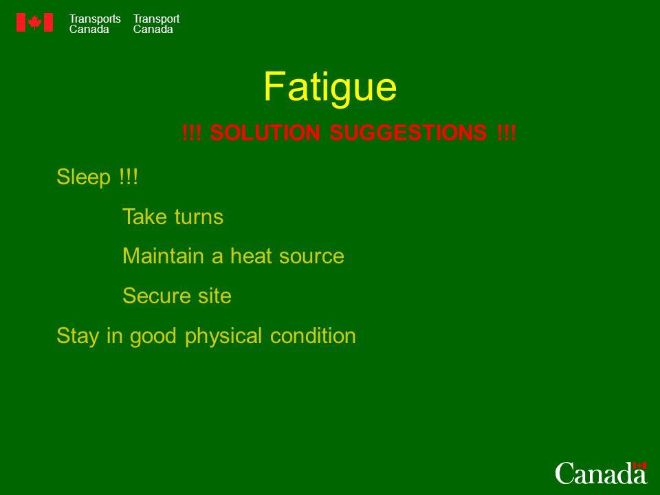 Transports Canada Transport Canada Fatigue Sleep !!.