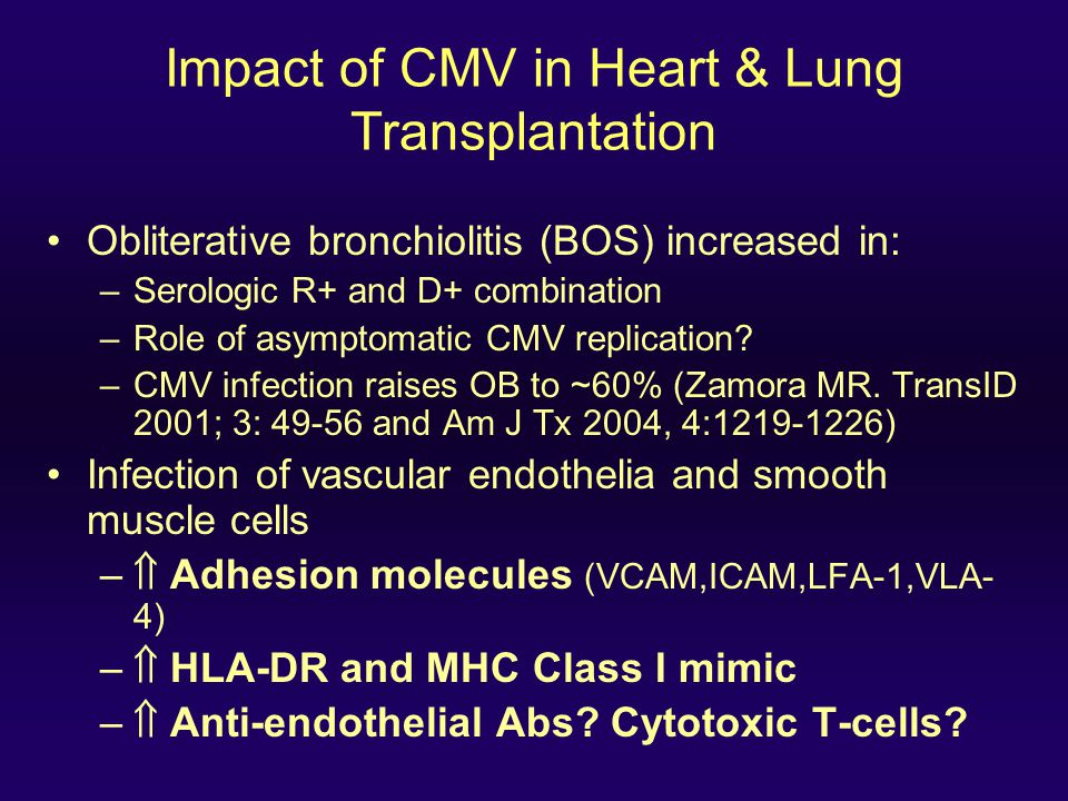 CMV and Graft Dysfunction: Liver CMV is associated with cirrhosis, graft failure, retransplantation, and death in liver allograft recipients (KW Burak