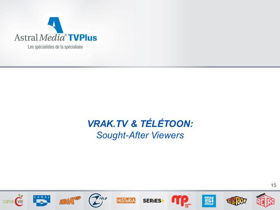 VRAK.TV & TÉLÉTOON: Sought-After Viewers 15