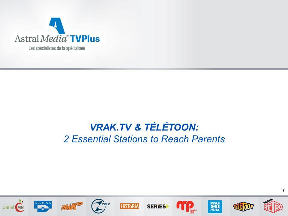 VRAK.TV & TÉLÉTOON: 2 Essential Stations to Reach Parents 9