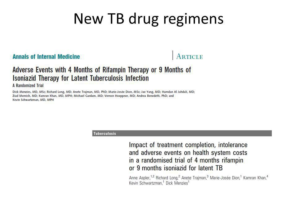 New TB drug regimens