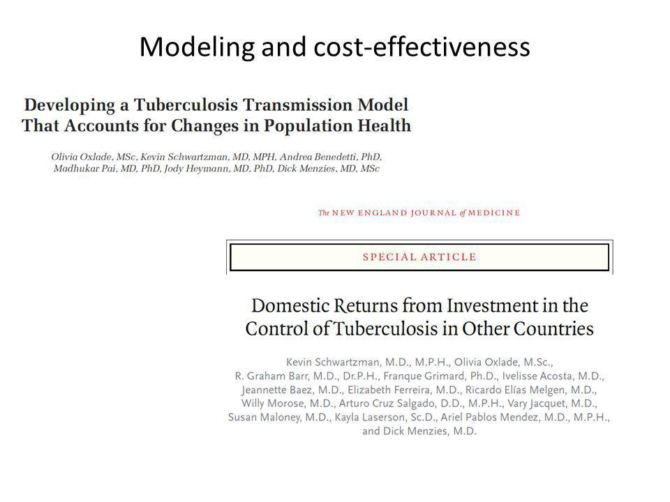 Modeling and cost-effectiveness