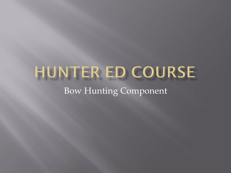 Bow Hunting Component