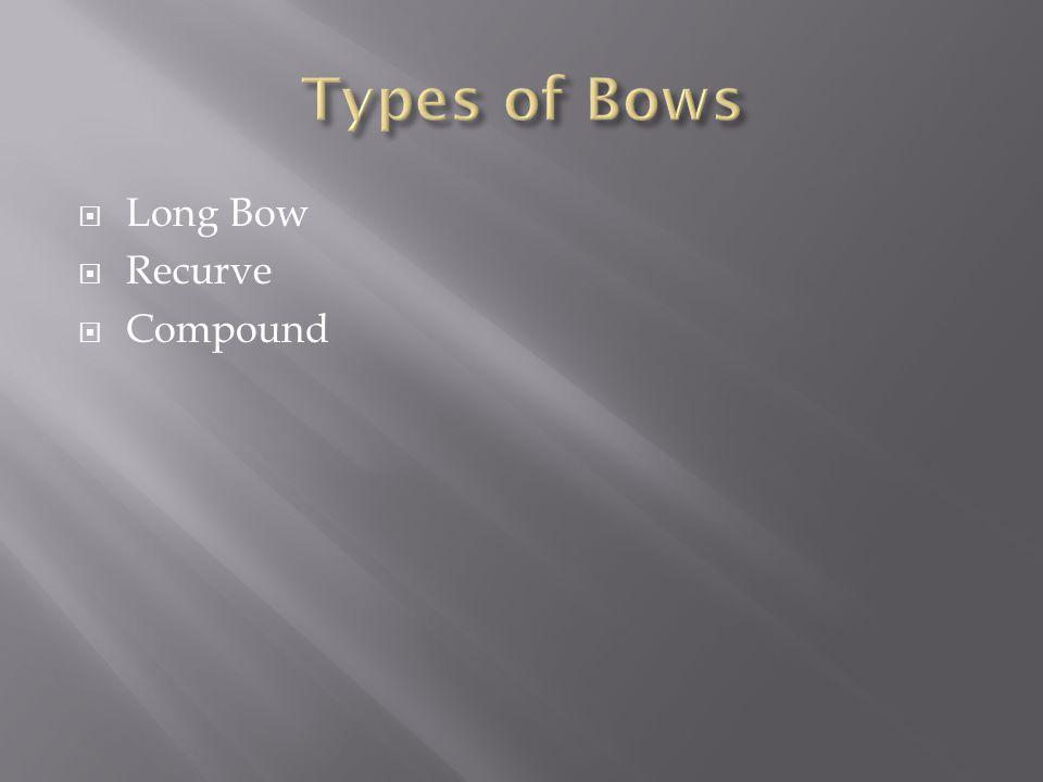  Long Bow  Recurve  Compound