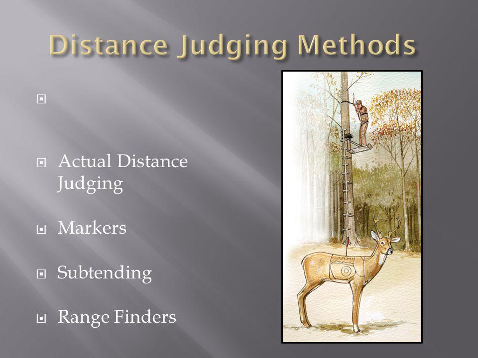   Actual Distance Judging  Markers  Subtending  Range Finders