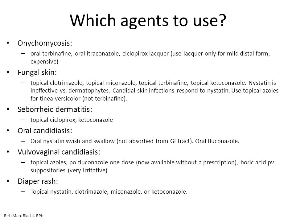 Which agents to use.