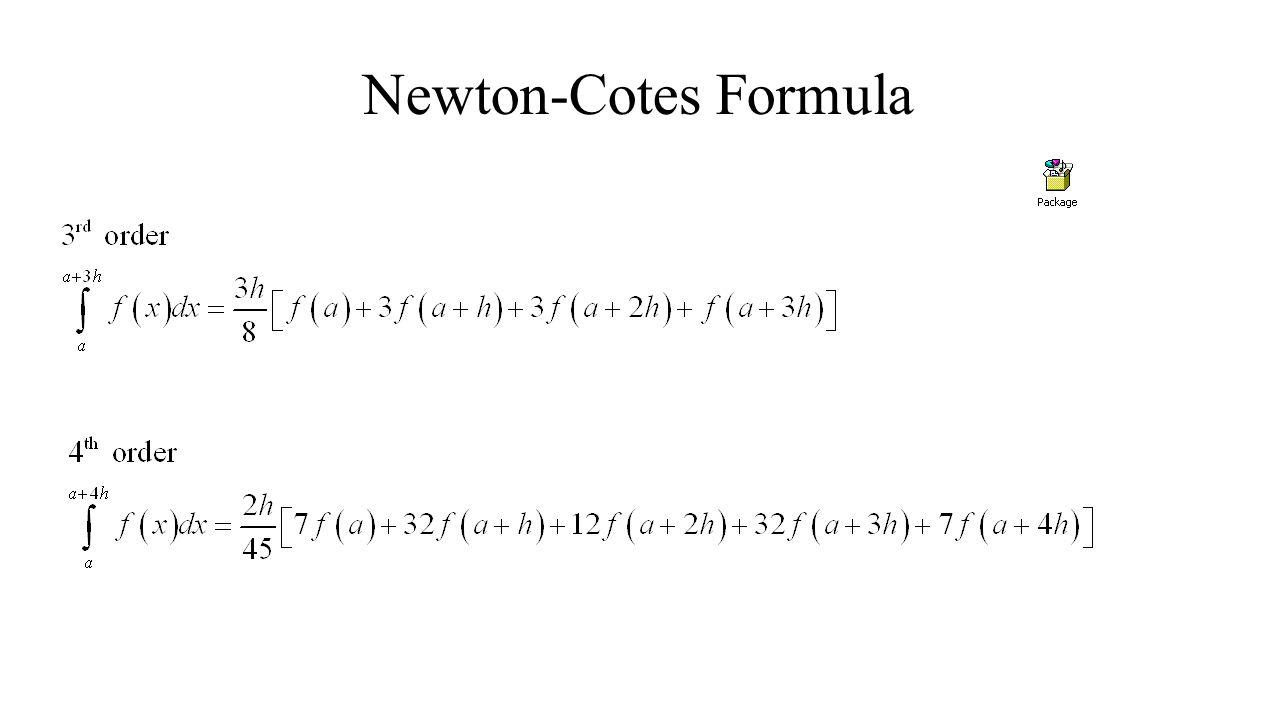 Newton-Cotes Formula