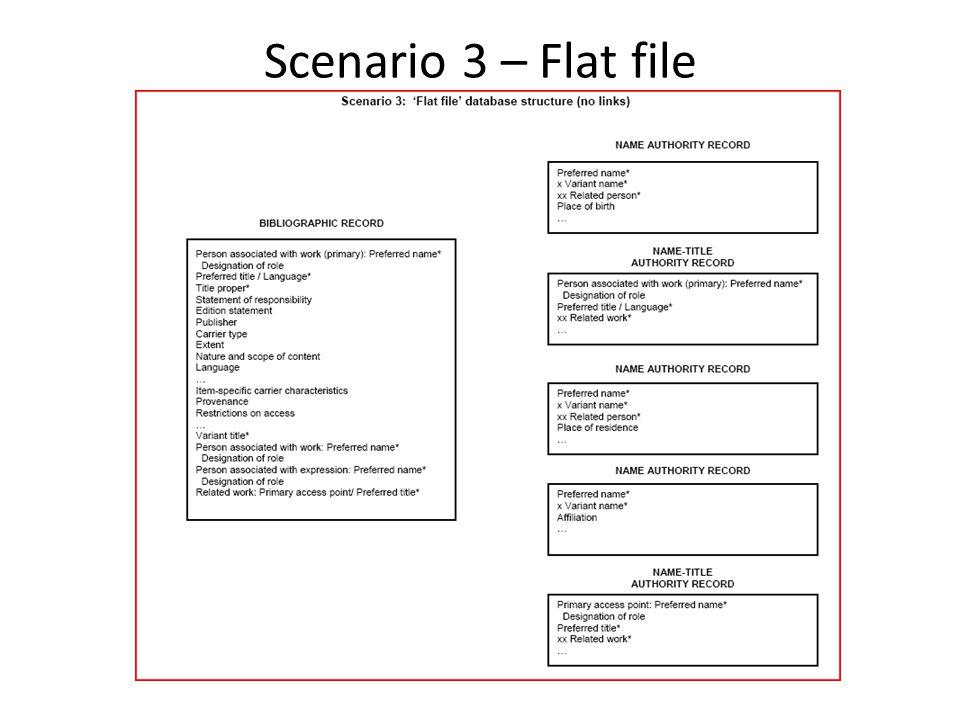 Scenario 3 – Flat file