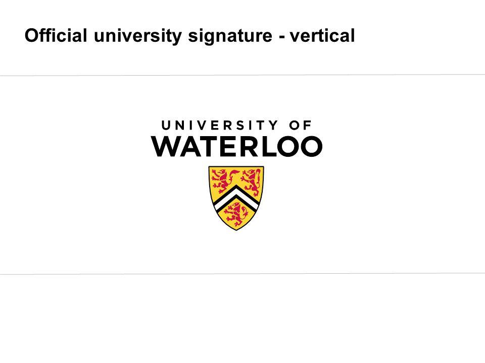 Official university signature - vertical