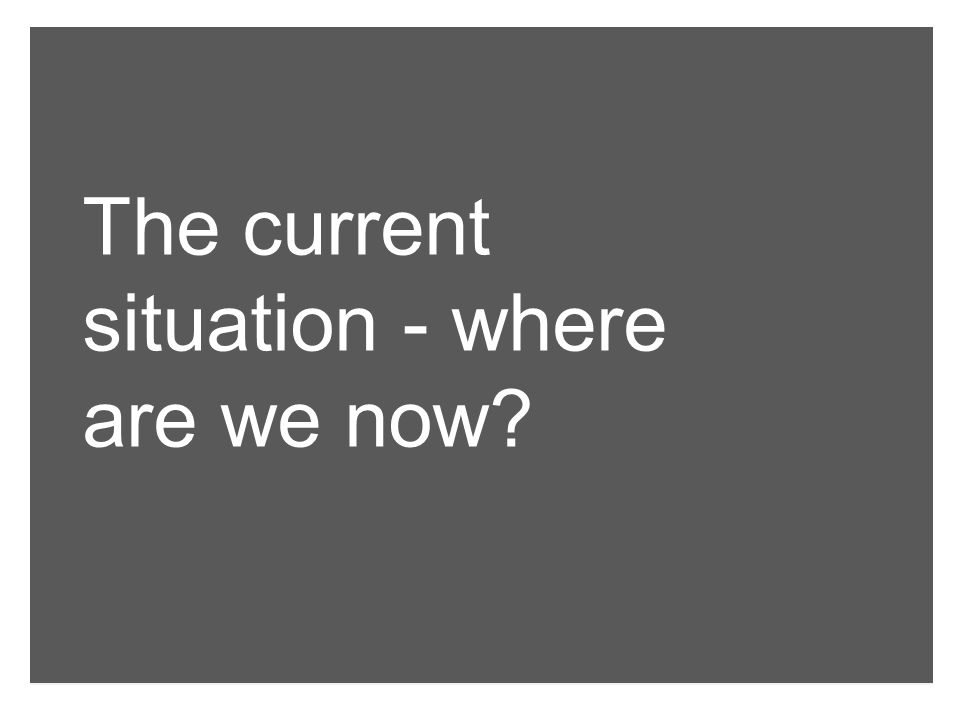 2008 – Positioning & Identity work Broad consultation/active working group Findings informed a new positioning A sense that other than the 'attribute' words, positioning not implemented Lack of institutional key messages Where are we now?