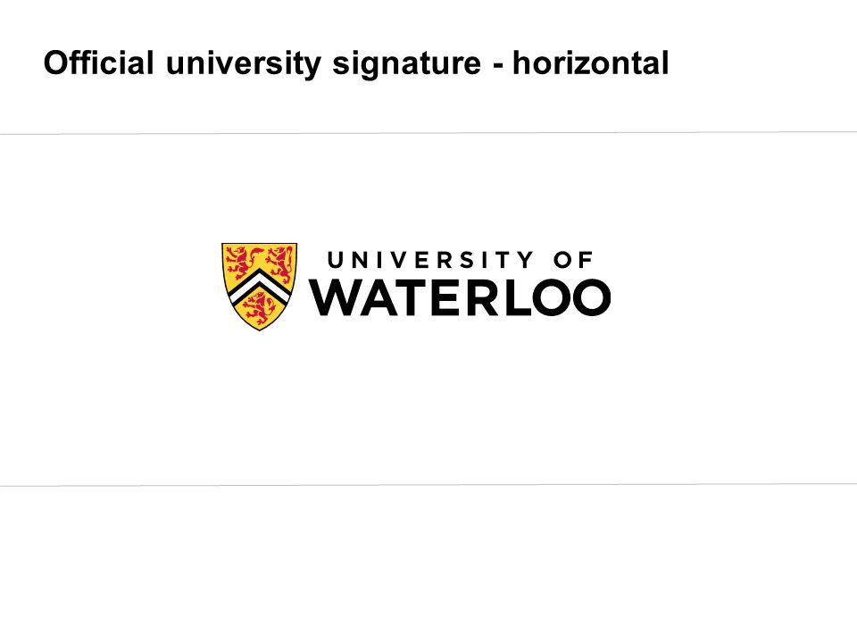 Official university signature - horizontal